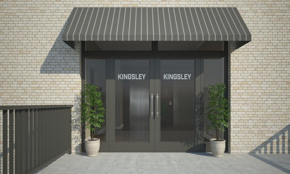 Front doors to Kingsley building.